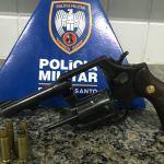 Arma apreendida e homem detido por porte ilegal em Guarapari