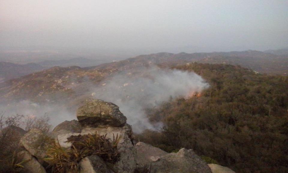 Bombeiros esperam que ainda hoje consigam extinguir completamente o incêndio no Jabre