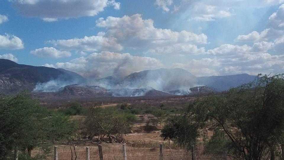Novos focos de incêndio na Serra do Teixeira