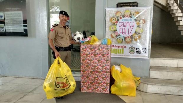 Operação Criança Feliz: Polícia Militar arrecada brinquedos até a próxima sexta-feira
