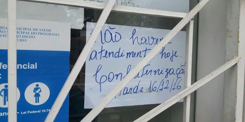 Fechamento de unidades básicas de saúde para confraternização revolta usuário na cidade de Patos