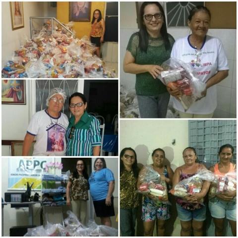 Fátima Bocão converte primeiro salário que recebeu como vereadora em doações de cestas básicas