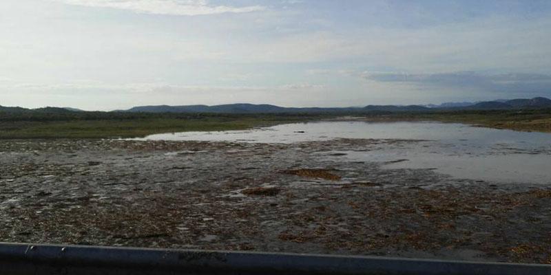 Finalmente o açude da cidade de Condado começa a pegar recarga d'água