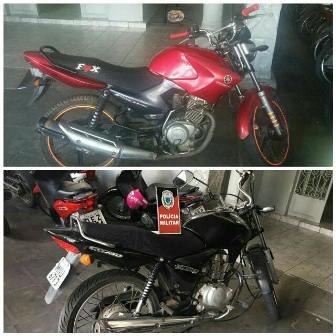 Duas motocicletas são recuperadas em Patos pela Polícia Militar