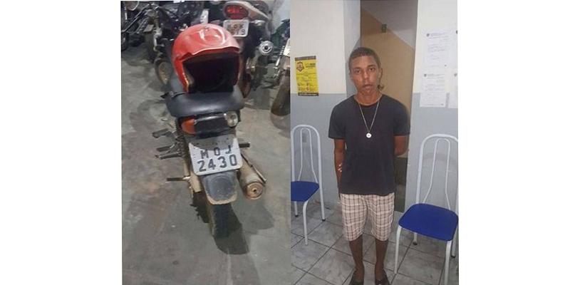 Motocicleta furtada há 20 dias é recuperada em Patos