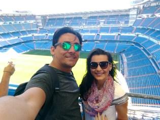 Estádio Santiago Bernabéu, em Madrid