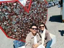 Tradição do cadeado do amor, em Lisboa