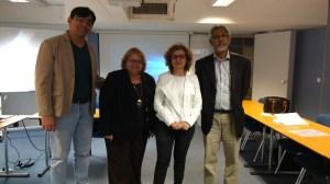 Com professores no dia da defesa do mestrado