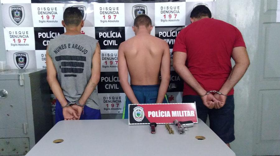 Polícia prende três acusados de envolvimento com tráfico de drogas e homicídio em Patos