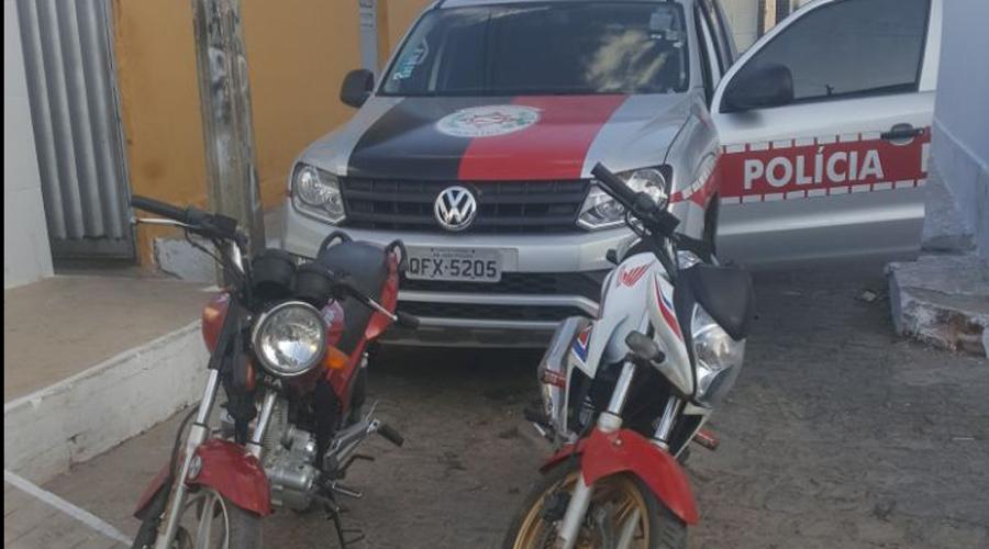 Polícia recupera motos roubadas em Patos