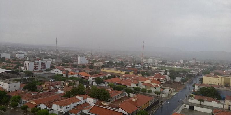 Índices das chuvas de ontem para hoje em quase 50 municípios paraibanos.