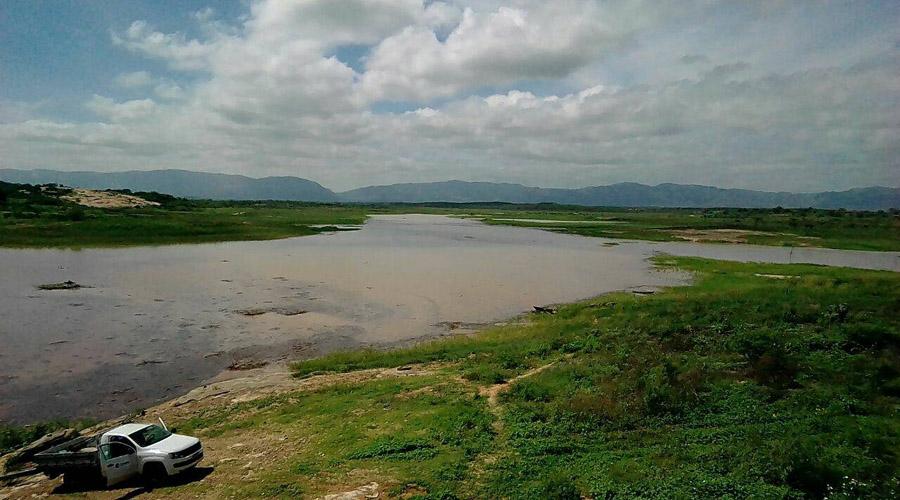 Barragem da Farinha pegando água