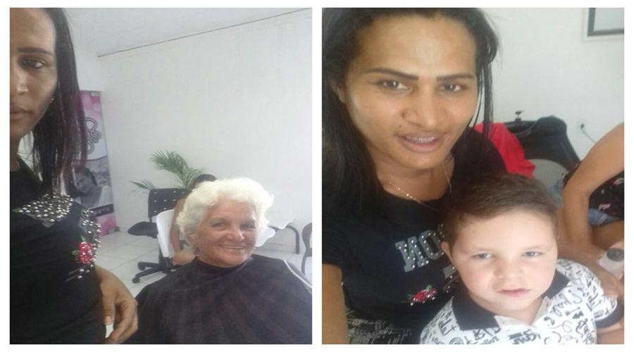 Salão Sheyla corta o cabelo de 90 pessoas carentes do Residencial Itatiunga neste sábado