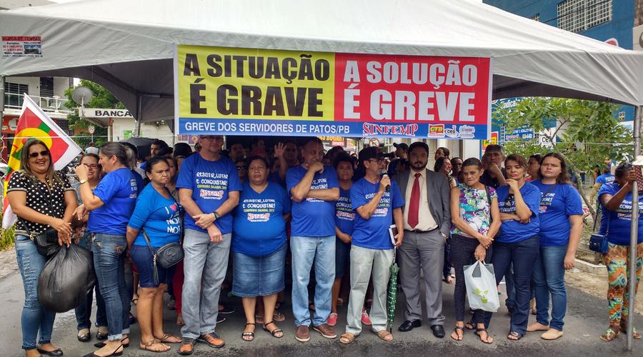 TJPB não analisa pedido de liminar da Prefeitura de Patos e greve continua