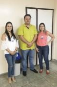 Milene Nunes, Dr. Umberto Marinho Júnior e Luciana Maia fizeram a abertura da Semana