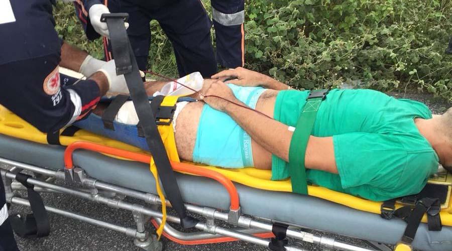 Jovem fura blitz policial, mas é perseguido, baleado na perna e preso, no Vale do Piancó