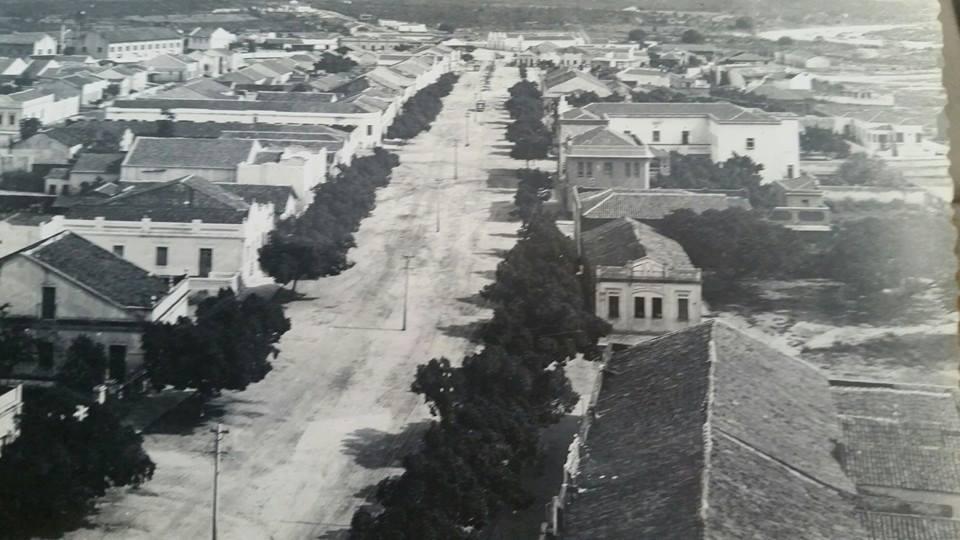 O centro de Patos nos anos 50