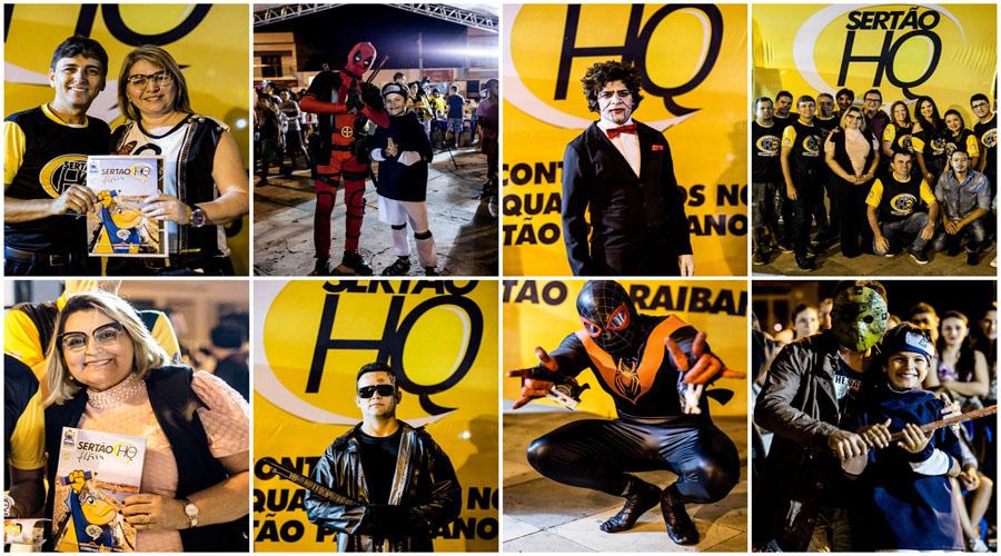 Coremas agitou o cenário cultural com a realização do Sertão HQ, que foi um grande sucesso. Fotos