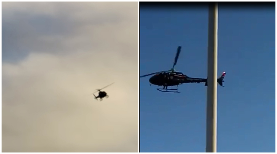 Helicóptero vasculha bairros de Patos em operação que começou em Conceição