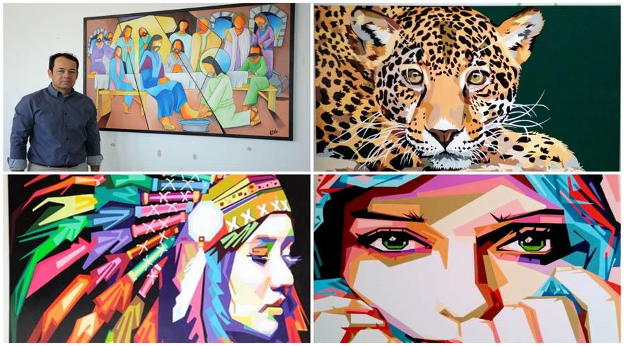 Fórum de Patos expõe obras de artista patoense e estimula cultura local