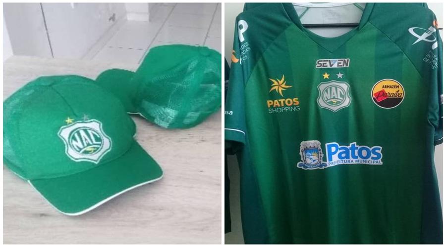 Camisas e bonés já estão à venda na sede do Nacional de Patos