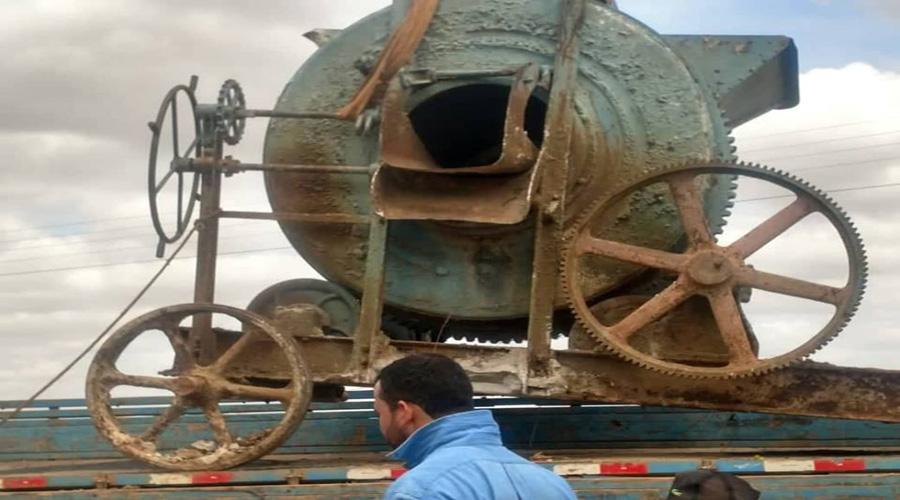 Betoneira usada na construção da Barragem de Mãe D'água há mais de 60 anos vira atração em Coremas