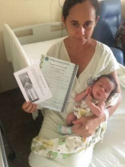 Maria das Mercês Calixto Pedro, da cidade de Tavares, que teve seu bebê, na Maternidade Patos em abril