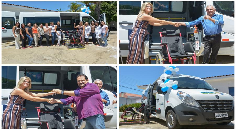 CER de Patos recebe Van adaptada para o transporte de pacientes cadeirantes