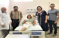 Paciente do Hospital do Bem que recebeu cateter implantável  já fez a primeira sessão de quimioterapia usando o dispositivo
