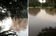 Riacho Caiçara amanhece em cheia em Pombal
