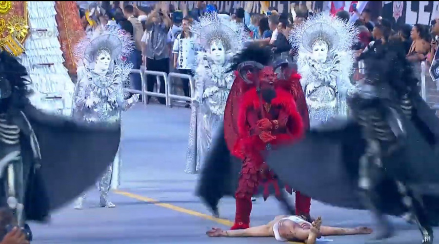 'JESUS VERSUS DIABO': coreógrafo da Gaviões diz que objetivo era 'chocar' e 'mexer com a fé'. Veja vídeos