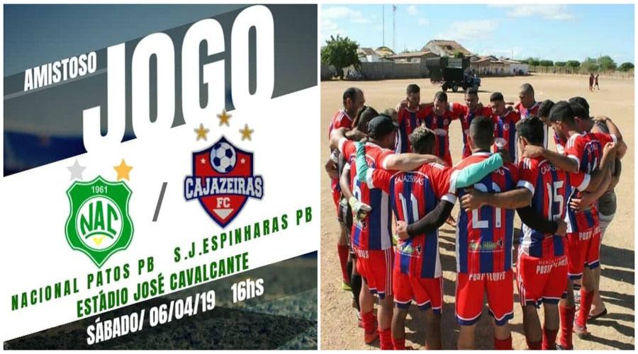 Nacional joga amistoso hoje com o Cajazeiras F. C., de São José de Espinharas