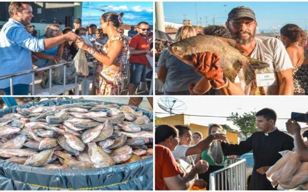 Prefeitura de São Mamede distribui uma tonelada de peixes e pães na Semana Santa Solidária