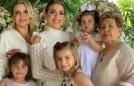 Francisca Motta recebe o carinho da família em seu aniversário