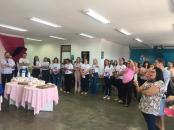 A comemA comemoração de um ano coincidiu com as ações do Outubro Rosaoração aconteceu no hall do Hospital do Bem