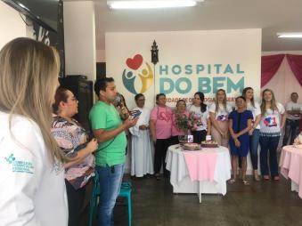 Neste dia 07 foi feita a comemoração de um ano de atividades do Hospital do Bem