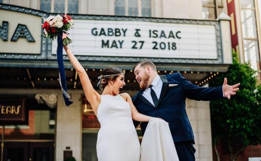 Maria + Eric's Modern Christmas Wedding at Traine in Raleigh, NC