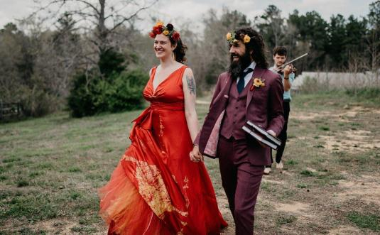 Rebecca + Dane's Quaker Wedding Ceremony at the Chapel Hill Carriage House