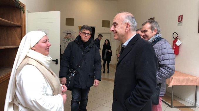 """Il sottosegretario Bocci alla Caritas di Foligno: """"Grazie per quello che fate"""""""