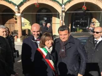 Ministro Gian Marco Centinaio in visita a Montefalco