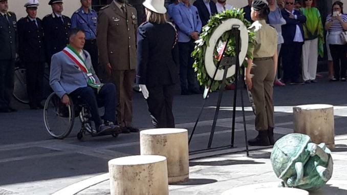 Cerimonia del 16 giugno, l'intervento del sindaco Zuccarini