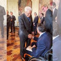 Sindaco di Foligno, Stefano Zuccarini, ricevuto al Quirinale da Mattarella