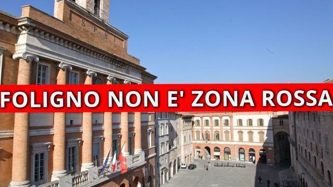 Foligno non è in zona rossa Sindaco Zuccarini su situazione Covid-19