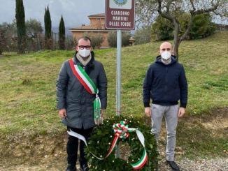 """Giano dell'Umbria, Inaugurazione del """"Giardino Martiri delle Foibe"""""""