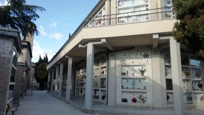Cimitero centrale di Foligno, completati i lavori del blocco B