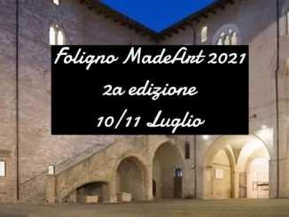 10 e 11 luglio, 'Foligno MadeArt', festival moda e design artigianale