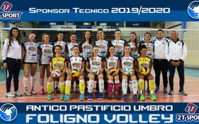 2T Sport sponsor tecnico FOLIGNO VOLLEY