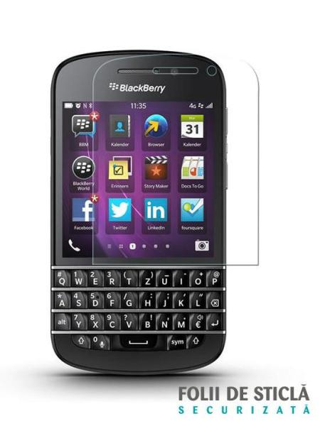 Folie din sticla securizata pentru BlackBerry Q10