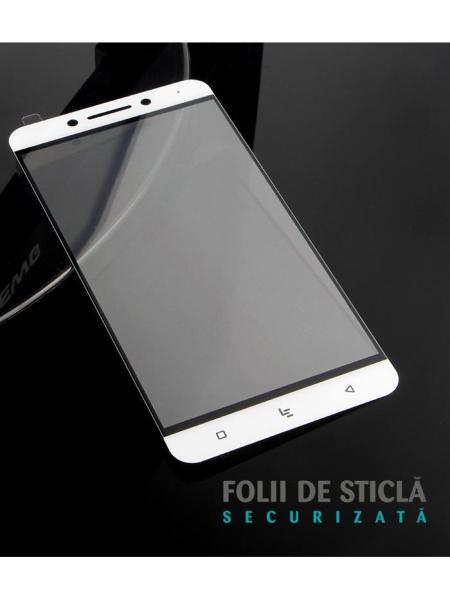 Folie Fullscreen 2.5D din sticla securizata pentru LeTv (LeEco) Pro 3 X720 ALB