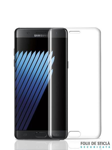 Folie curbată 3D din sticlă securizată pentru Samsung Galaxy Note 7 / FE TRANSPARENT